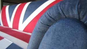Αναπαλαιωμένος καναπές ''Σημαία Αγγλίας''